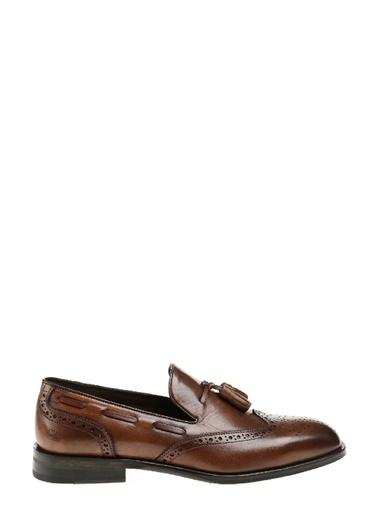 George Hogg %100 Deri Loafer Ayakkabı Taba